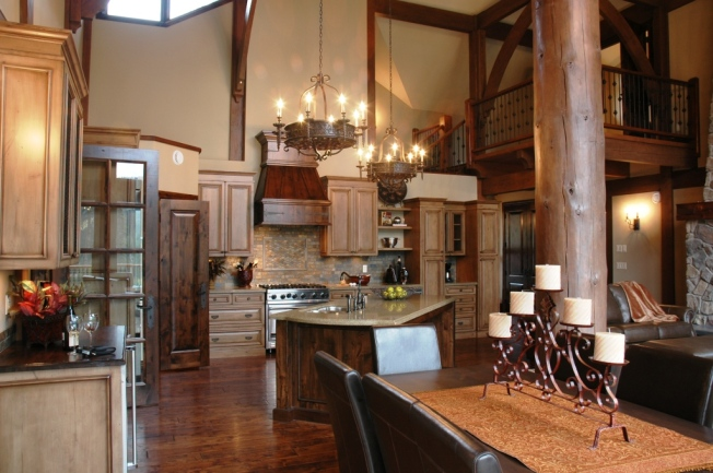 Traditional kitchen with quartz countertops